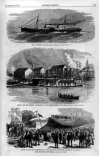 The Spanish Butchery: illustrations of the U.S. naval response over the Virginius incident (Harper's Weekly, 1873)