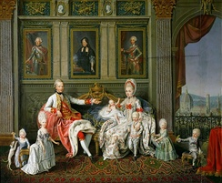 Leopold II, Holy Roman Emperor and his family. Leopold was, from 1765 to 1790, the Grand Duke of Tuscany