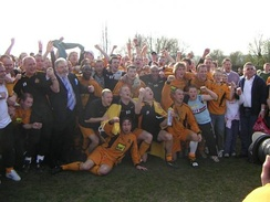 Maidstone celebrate winning the Kent League title in 2006