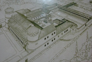 Reconstruction of the Roman governor's palace in Aquincum, Hungary