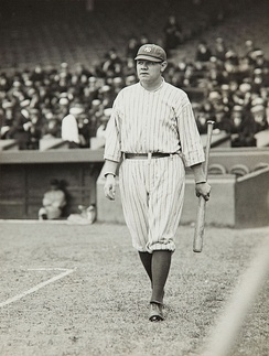 Babe Ruth, the all-time leader in OPS.
