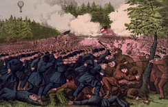 The Battle of Fair Oaks, Va. by Currier and Ives (1862)