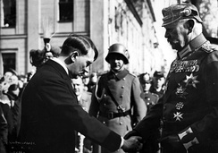 Hitler and Hindenburg at the Garrison Church in Potsdam