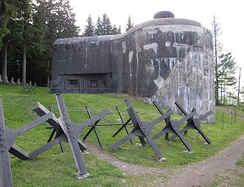 Czechoslovakia built a system of border fortifications from 1935 to 1938 as a defensive countermeasure against the rising threat of Nazi Germany.