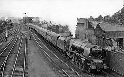 The 'Royal Scot' entering Carlisle in 1960