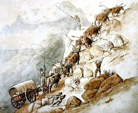 Passing Cradock Pass, Outeniqua Mountains, by Charles Collier Michell