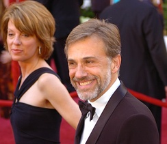 Waltz and Judith Holste at the 82nd Academy Awards, March 2010