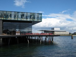 The Royal Danish Playhouse (left) and Opera House (background, right)