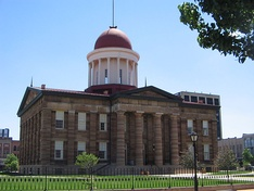 The Old State Capitol building in Springfield, Illinois – Lincoln was instrumental in bringing the state capitol to Springfield and served his final term in the Illinois legislature in this building.