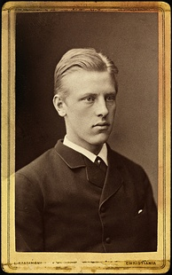 Nansen as a student in Christiania (1880, age 19)