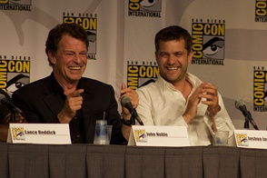 "In an interview, John Noble (pictured left) explained the episode ""lets us know what has happened, why Peter [(played by Joshua Jackson, right)] is where he is and it also tells us specifically how Walter went to get him.  So we see how he crossed over into the other universe"".[1]"