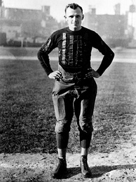 George Halas as player-coach of the Chicago Bears during the 1922 season.