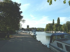 Henley-on-Thames from the playground near the railway station