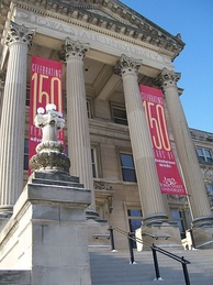 Beardshear Hall celebrating Sesquicentennial in 2008