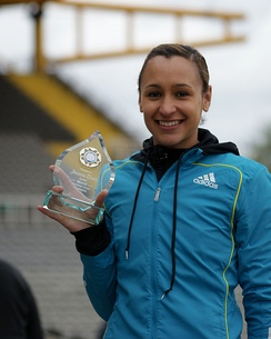 Jessica Ennis with Double World Championship Award