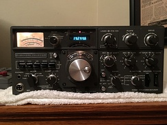 Amateur-radio transceiver, tuned to the 20-meter band
