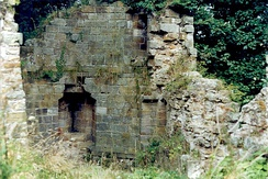 Remains of the north east tower of Kilton Castle