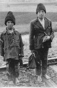 Homeless Russian children in occupied territory (about 1942)
