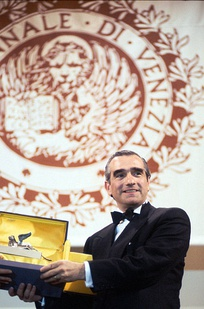 Martin Scorsese receiving a Golden Lion, the most prestigious award given out at the Venice Film Festival, the oldest film festival in the world.