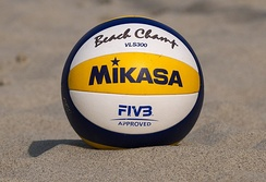 Mikasa VLS300, official ball for the 2017 FIVB Beach Volleyball World Tour