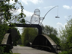 Naburn bridge and sculpture from west bank
