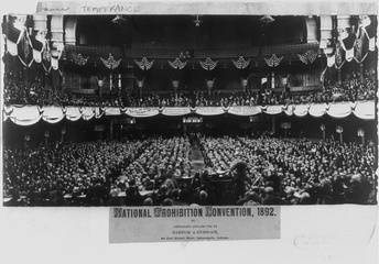 National Prohibition Convention, Cincinnati, Ohio, 1892