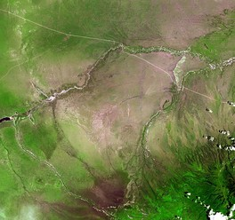 Olduvai Gorge from space