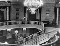 View of the mezzanine in the lobby of the former Capitol Cinema, Ottawa, Ontario, Canada