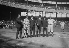 Players and umps at 1921 World Series.jpg
