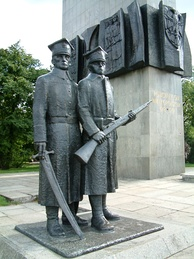 Monument commemorating Polish soldiers who fought in the Greater Poland Uprising of 1919
