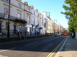 Queens Road, one of the oldest streets in Brighton