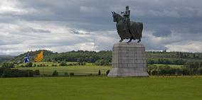 Statue of Robert the Bruce at Bannockburn