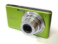 An example of a digital camera in the Cyber-shot line.