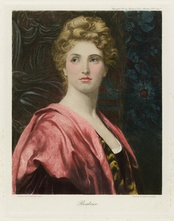 A painting of Beatrice by Frank Dicksee, from The Graphic Gallery of Shakespeare's Heroines