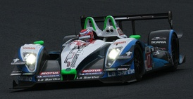 Shinji Nakano driving the Sora Racing car to victory in Race One