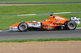 The Midland F1 car livery after the purchase by Spyker