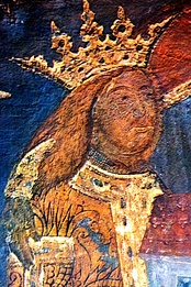 Fresco of Stephen the Great at Voroneț Monastery