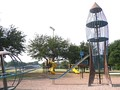 Heights Park, famous for its rocketship slide.