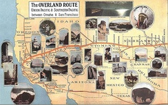 """The Overland Route to the Road of a Thousand Wonders: The Route of the Union Pacific & Southern Pacific from Omaha to San Francisco - A Journey of Eighteen Hundred Miles Where Once the Bison & the Indian Reigned""Union and Southern Pacific Railroad Passenger Departments, 1908."