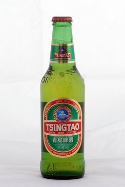 Qingdao-based Tsingtao beer, China's second-largest domestic brand and its largest export brand.