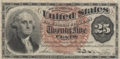 George Washington – 25¢ Fractional Currency