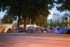 A homeless camp in Eugene, Oregon, 2013
