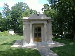 Taylor's mausoleum at the Zachary Taylor National Cemetery in Louisville, Kentucky