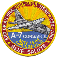 178th Fighter Group A-7 Retirement patch