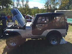 1979 Jeep CJ Silver Anniversary edition, lengthened nose as compared to pre-1972 models