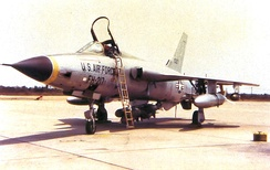 67th TFS Republic F-105D-25-RE Thunderchief 61-0217 flown by Lt Col James Robinson Risner was flying this aircraft from Korat when he was shot down by anti-aircraft artillery on 16 September 1965