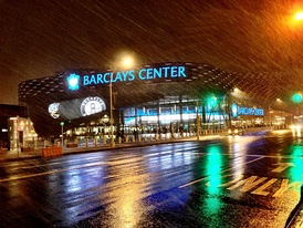 Barclays Center in Pacific Park within Prospect Heights, home of the Nets and Liberty.