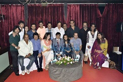 A group of Bollywood singers at the Indian Singers' Rights Association (ISRA) meet in 2013.