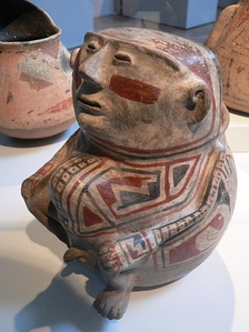 Human shaped Jar, Casas Grandes Culture. Part of the Stanford Museum collection (United States).