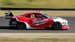 Cars racing in the 2019 season, from top to bottom: a Ford Mustang GT, a Holden ZB Commodore and a Nissan Altima L33.